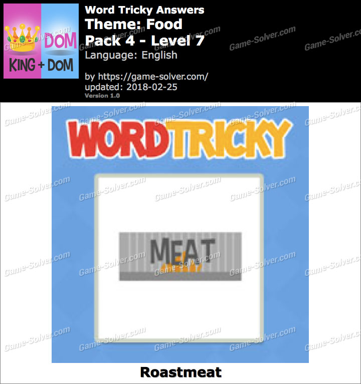 Word Tricky Food Pack 4-Level 7 Answers