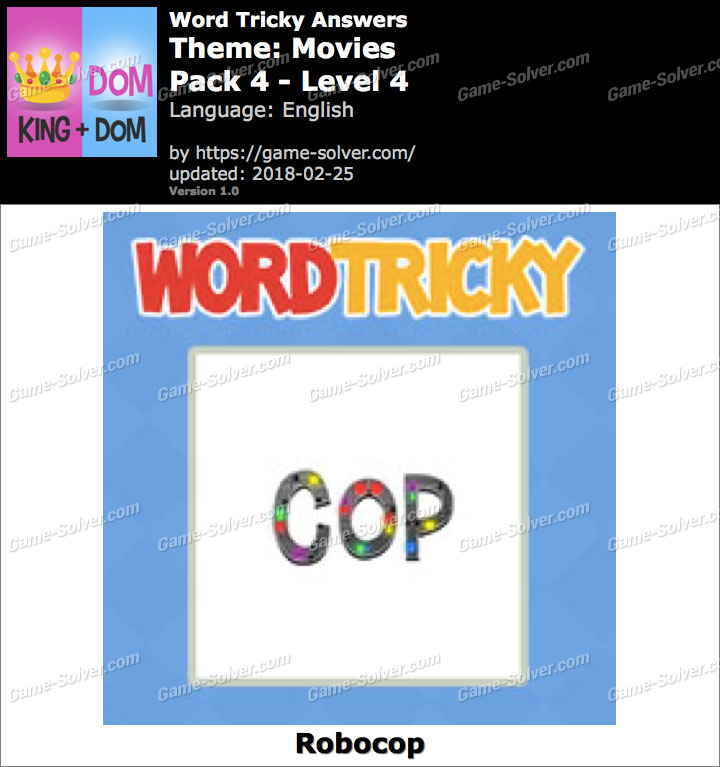 Word Tricky Movies Pack 4-Level 4 Answers