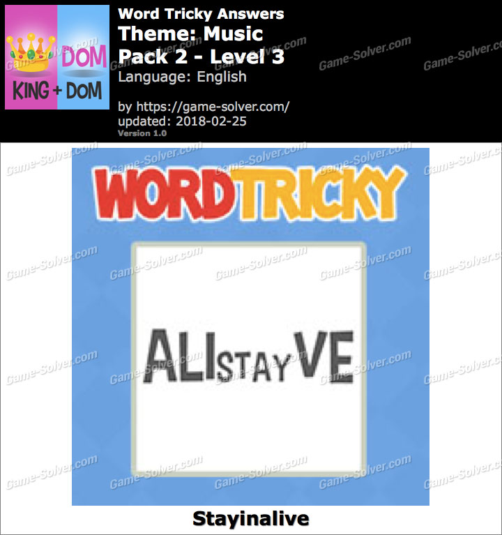 Word Tricky Music Pack 2-Level 3 Answers