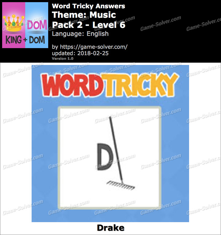 Word Tricky Music Pack 2-Level 6 Answers