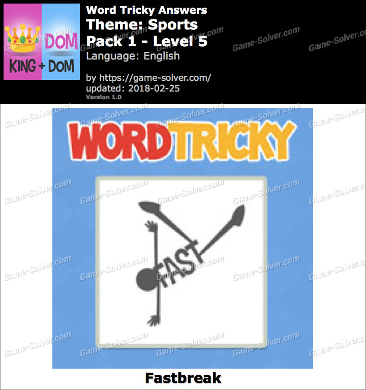 Word Tricky Sports Pack 1-Level 5 Answers