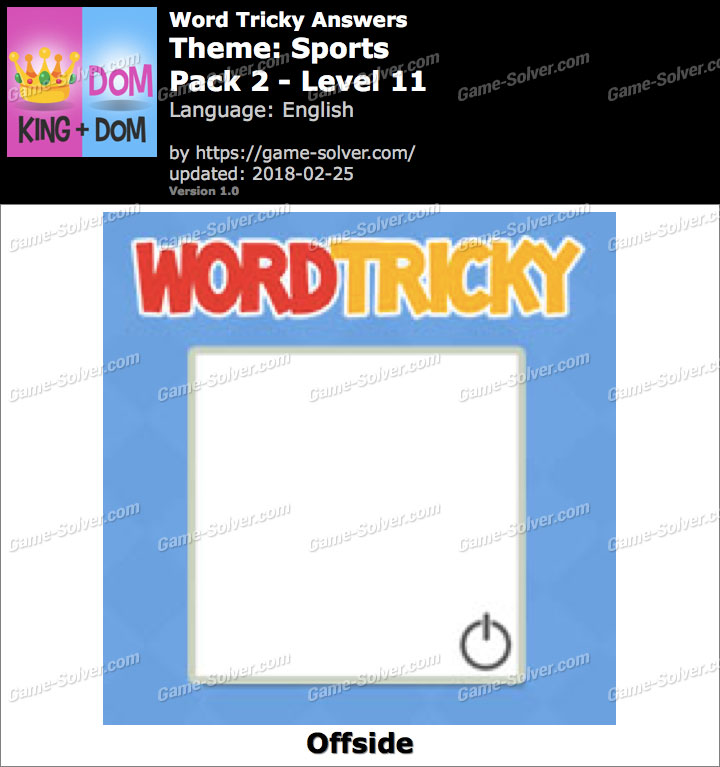 Word Tricky Sports Pack 2-Level 11 Answers