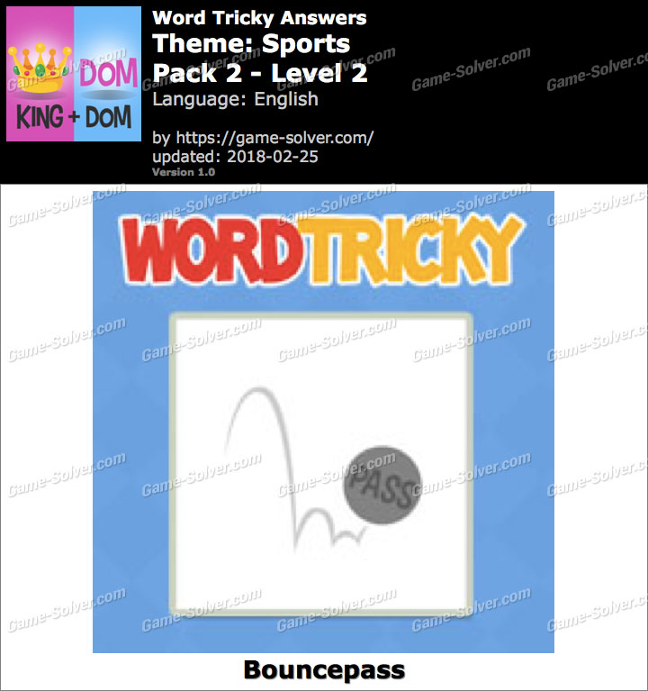 Word Tricky Sports Pack 2-Level 2 Answers