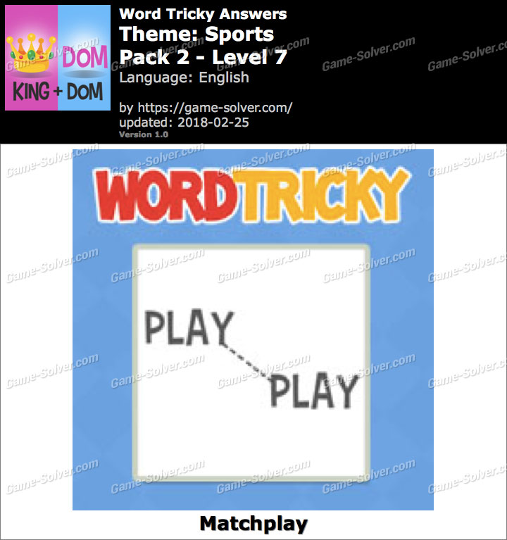 Word Tricky Sports Pack 2-Level 7 Answers