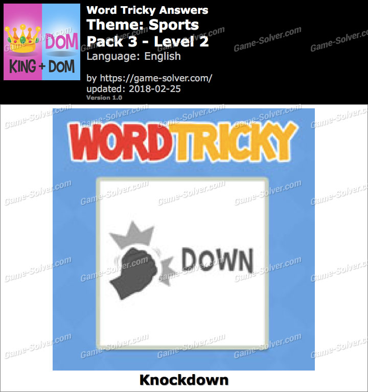 Word Tricky Sports Pack 3-Level 2 Answers