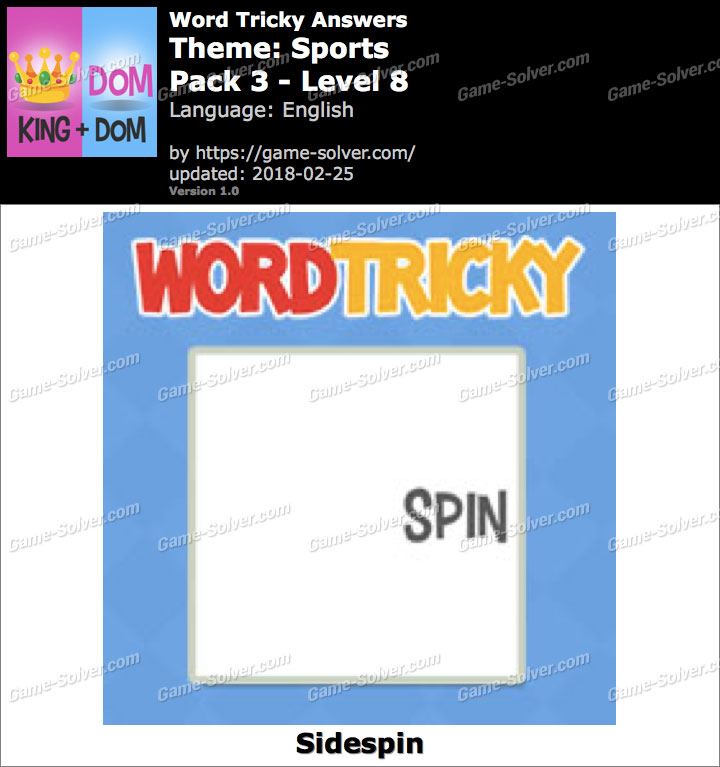 Word Tricky Sports Pack 3-Level 8 Answers
