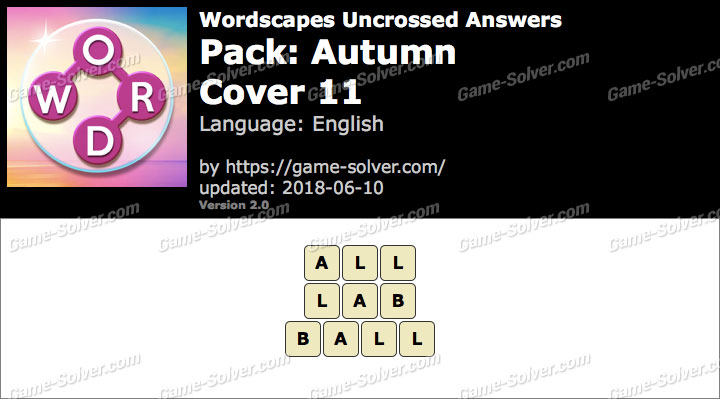 Wordscapes Uncrossed Autumn-Cover 11 Answers