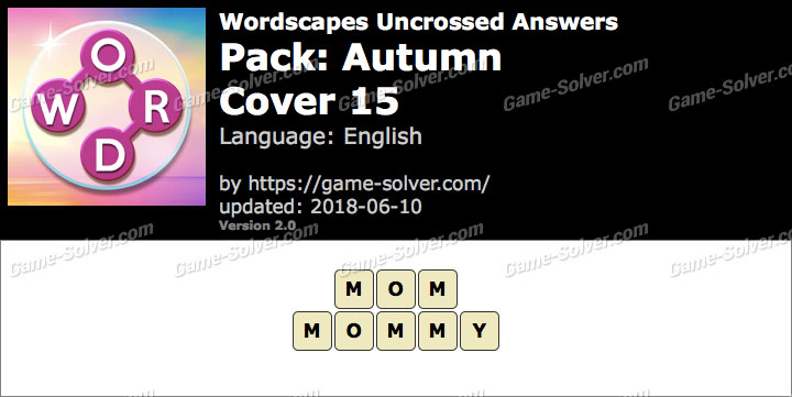 Wordscapes Uncrossed Autumn-Cover 15 Answers