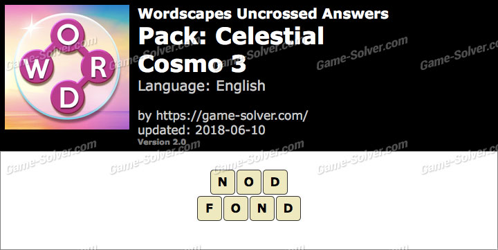 Wordscapes Uncrossed Celestial-Cosmo 3 Answers