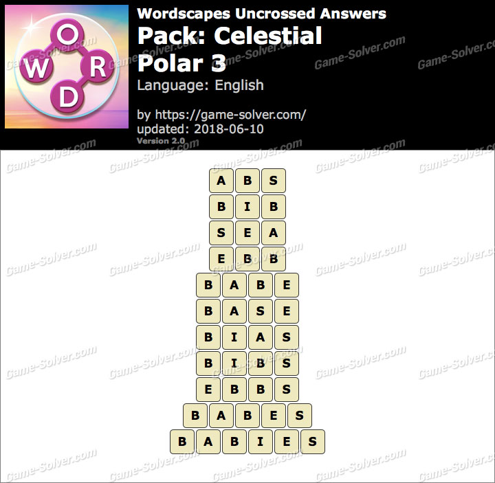 Wordscapes Uncrossed Celestial-Polar 3 Answers