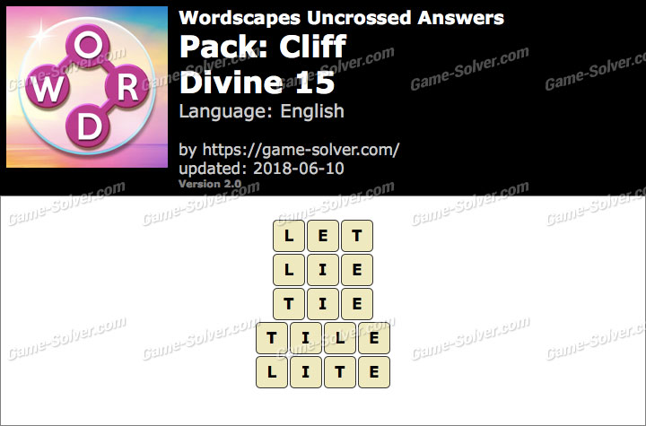 Wordscapes Uncrossed Cliff-Divine 15 Answers