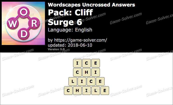 Wordscapes Uncrossed Cliff-Surge 6 Answers