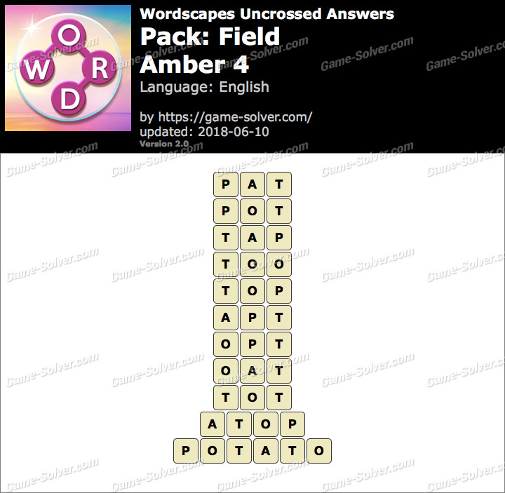 Wordscapes Uncrossed Field-Amber 4 Answers