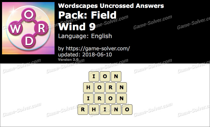 Wordscapes Uncrossed Field-Wind 9 Answers