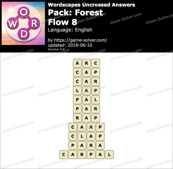Wordscapes Uncrossed Forest-Flow 8 Answers
