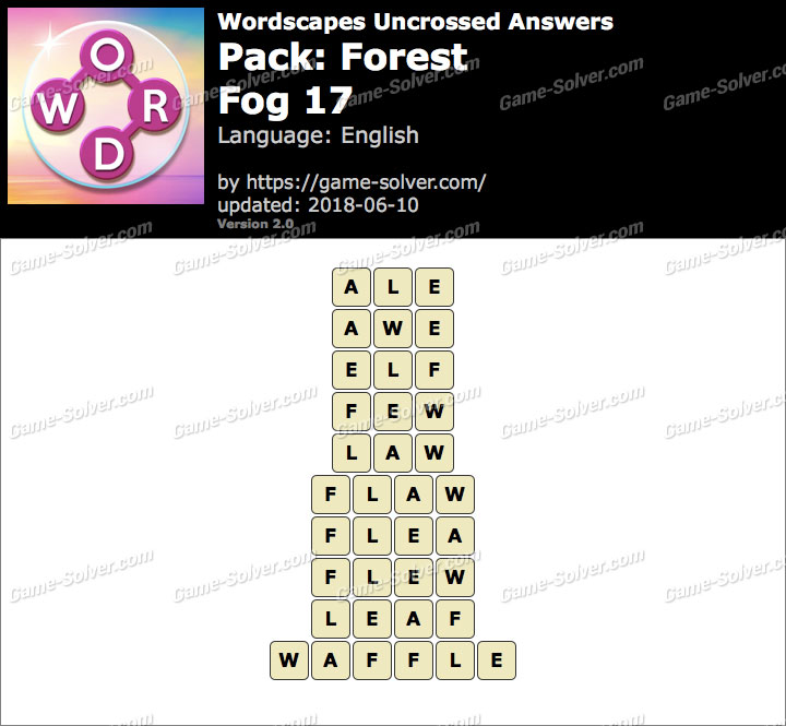 Wordscapes Uncrossed Forest-Fog 17 Answers