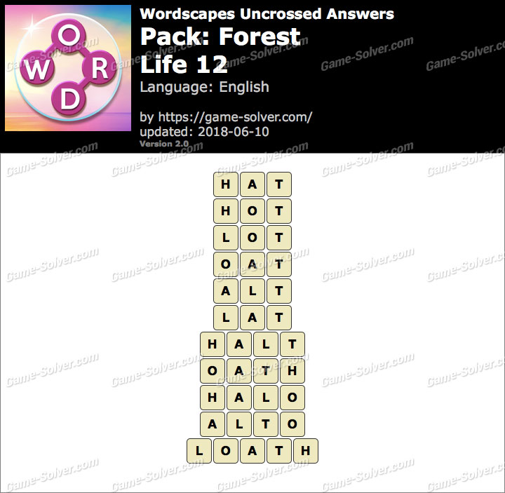 Wordscapes Uncrossed Forest-Life 12 Answers