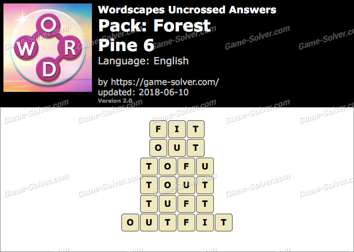 Wordscapes Uncrossed Forest-Pine 6 Answers