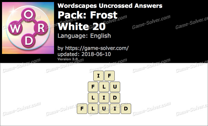 Wordscapes Uncrossed Frost-White 20 Answers