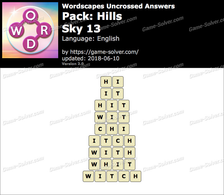 Wordscapes Uncrossed Hills-Sky 13 Answers