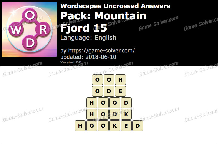 Wordscapes Uncrossed Mountain-Fjord 15 Answers