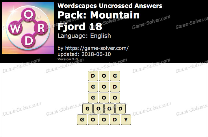 Wordscapes Uncrossed Mountain-Fjord 18 Answers