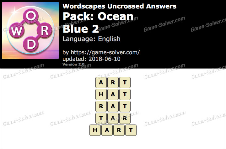 Wordscapes Uncrossed Ocean-Blue 2 Answers