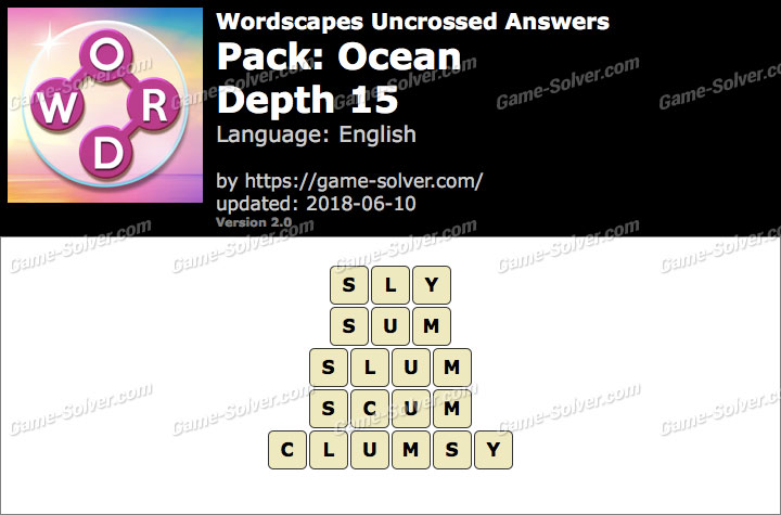 Wordscapes Uncrossed Ocean-Depth 15 Answers