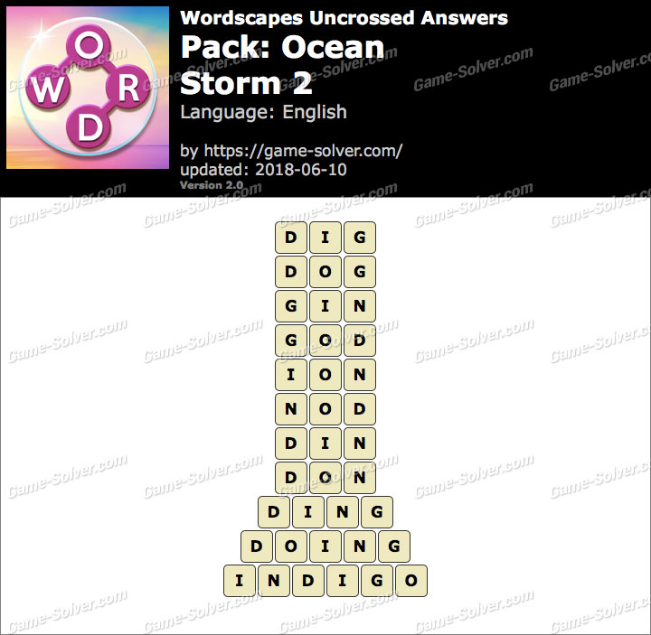 Wordscapes Uncrossed Ocean-Storm 2 Answers