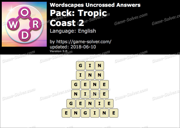 Wordscapes Uncrossed Tropic-Coast 2 Answers