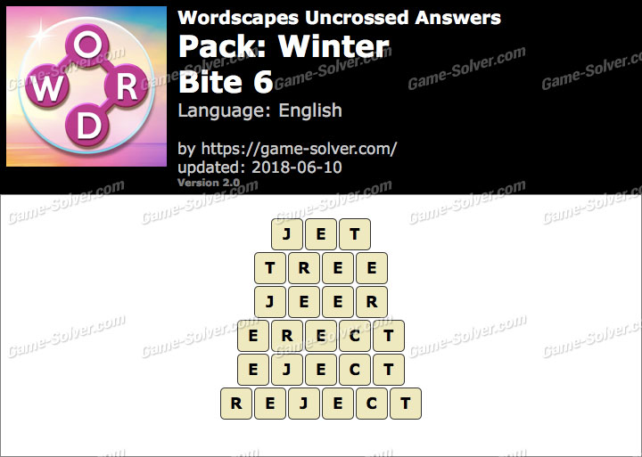 Wordscapes Uncrossed Winter-Bite 6 Answers