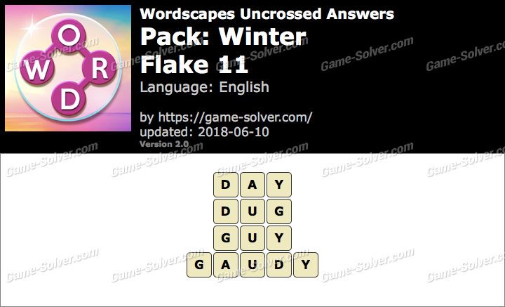 Wordscapes Uncrossed Winter-Flake 11 Answers