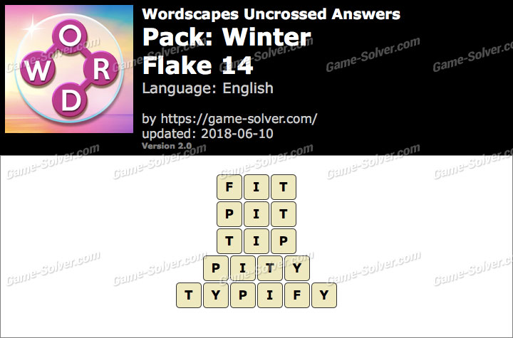 Wordscapes Uncrossed Winter-Flake 14 Answers