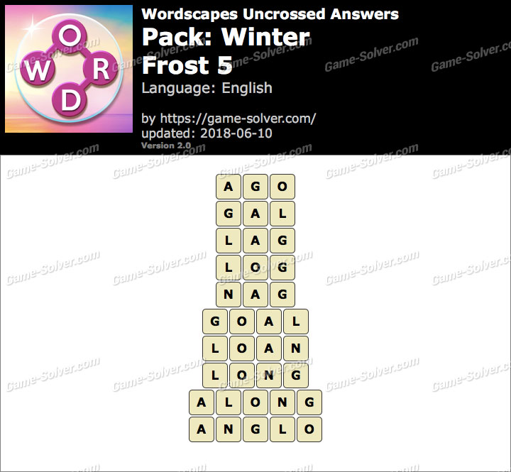 Wordscapes Uncrossed Winter-Frost 5 Answers
