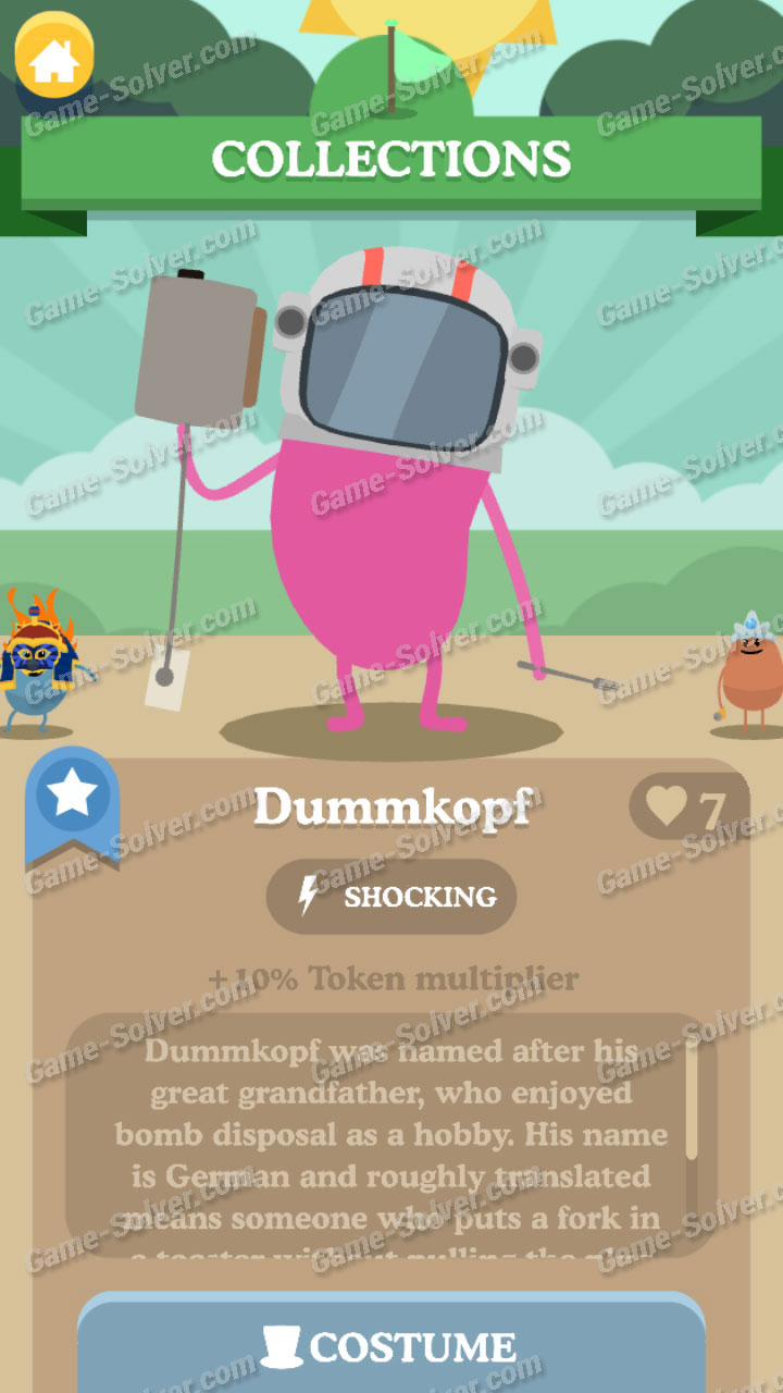 Dumb Ways To Die 3 Characters-Dummkopf