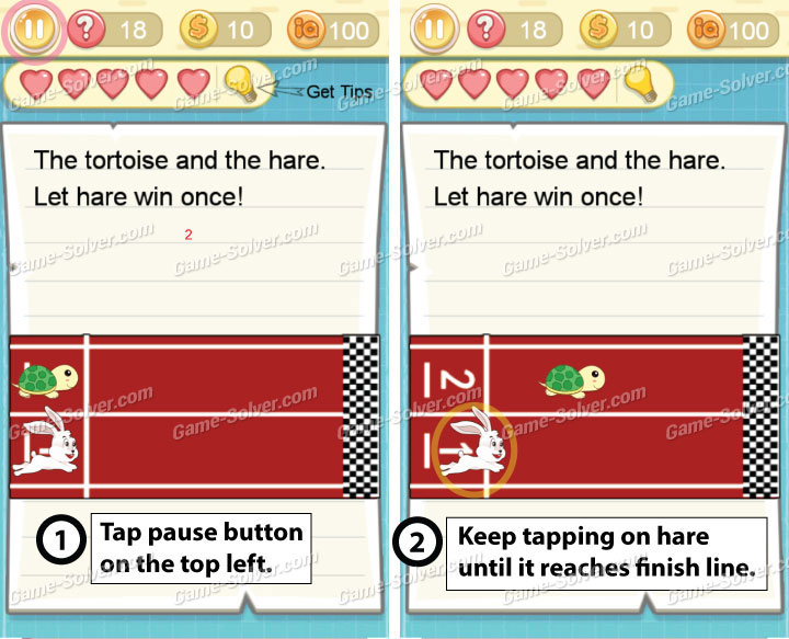 Tricky Challenge 2 Level 18 Answers