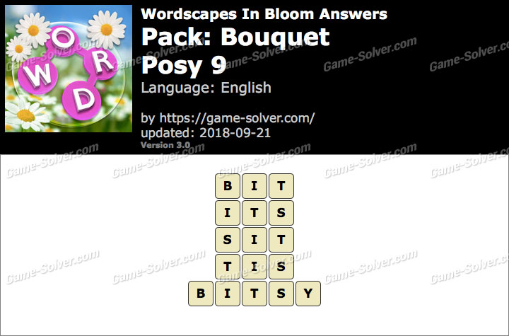 Wordscapes In Bloom Bouquet-Posy 9 Answers