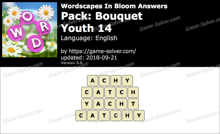 Wordscapes In Bloom Bouquet-Youth 14 Answers