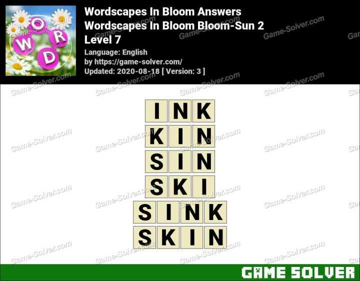 Wordscapes In Bloom Fields-Soar 7 Answers