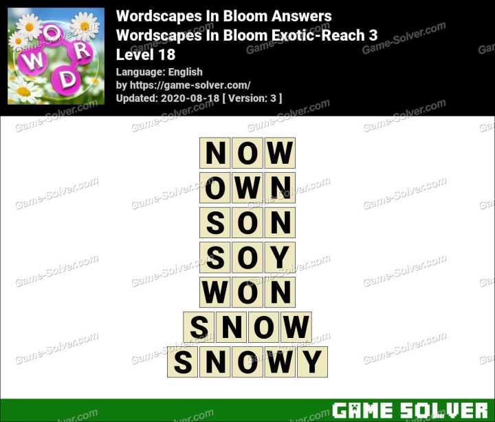 Wordscapes In Bloom Fields-Wind 18 Answers