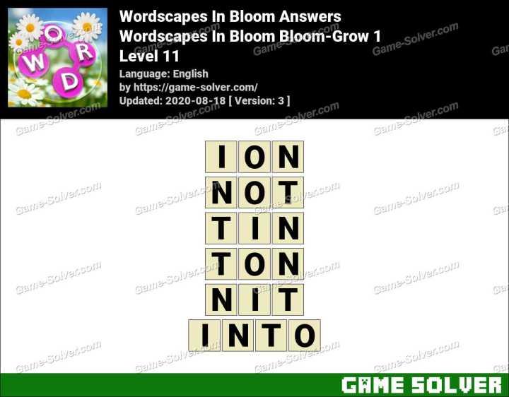 Wordscapes In Bloom Glow-Streaks 11 Answers