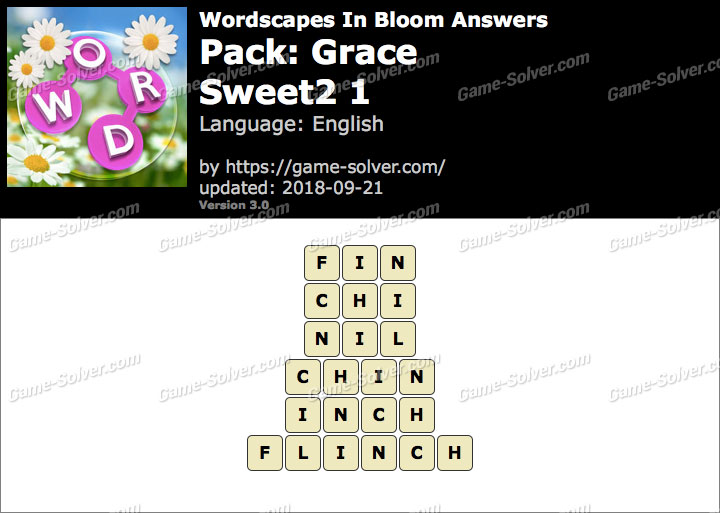 Wordscapes In Bloom Grace-Sweet2 1 Answers