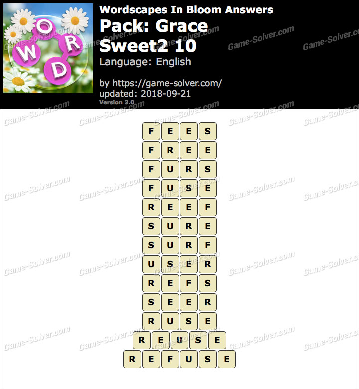 Wordscapes In Bloom Grace-Sweet2 10 Answers