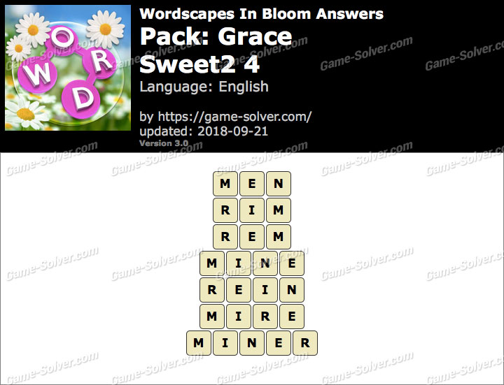Wordscapes In Bloom Grace-Sweet2 4 Answers