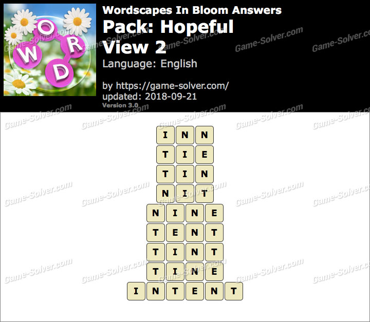 Wordscapes In Bloom Hopeful-View 2 Answers