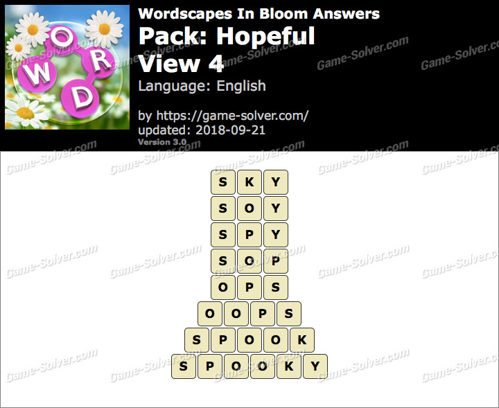 Wordscapes In Bloom Hopeful-View 4 Answers