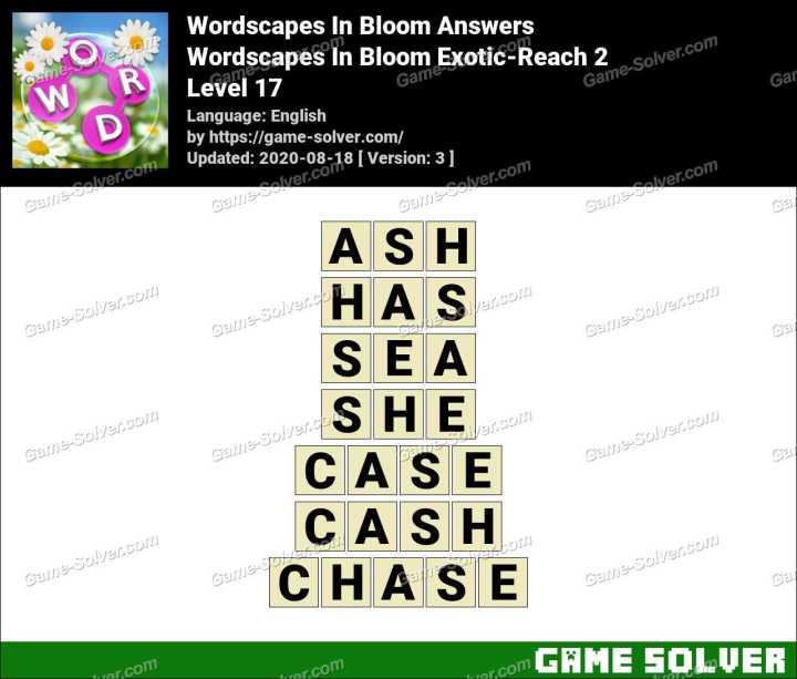 Wordscapes In Bloom Hopeful-Yaku 17 Answers