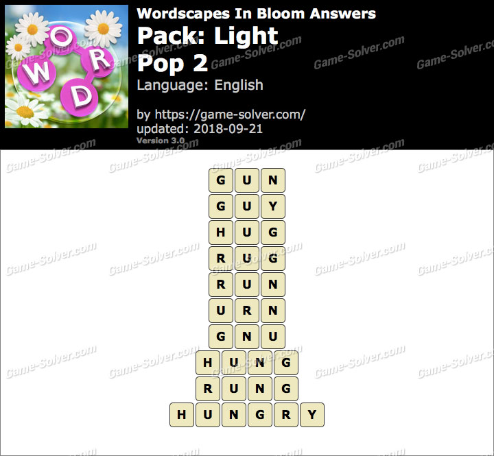 Wordscapes In Bloom Light-Pop 2 Answers
