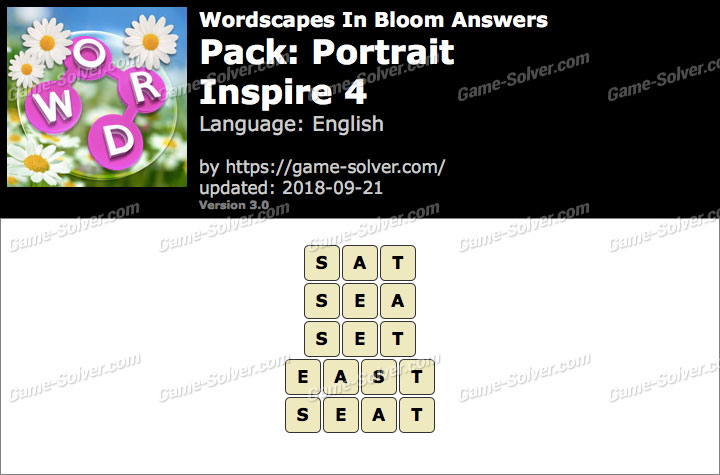 Wordscapes In Bloom Portrait-Inspire 4 Answers