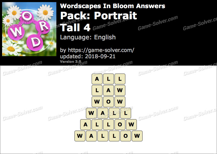 Wordscapes In Bloom Portrait-Tall 4 Answers